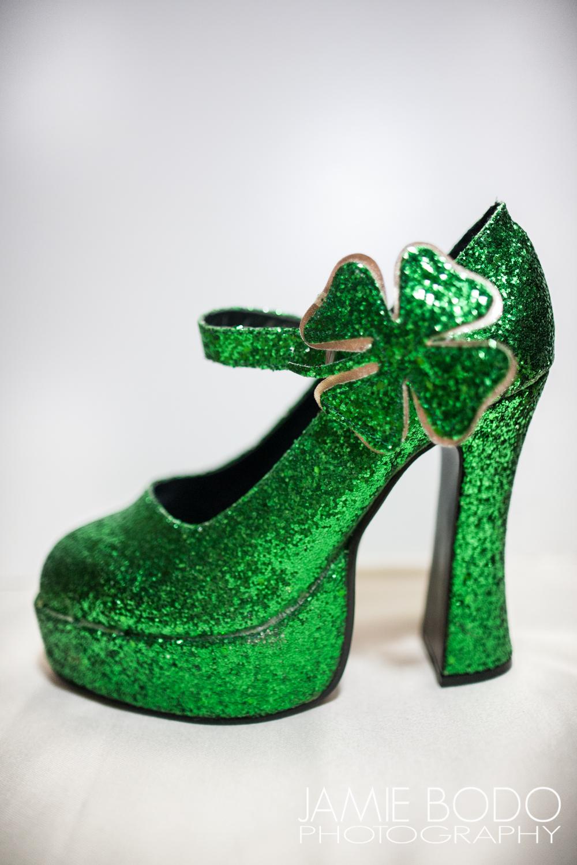 Green Glitter Platforms Jamie Bodo