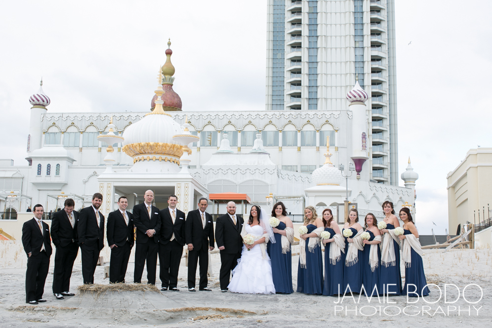 Trump Taj Mahal Boardwalk Wedding Photo