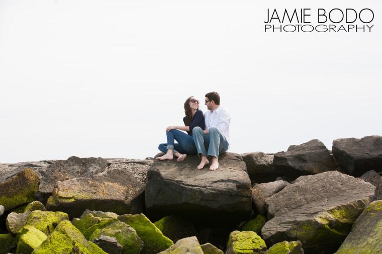 Longport Beach engagement Jamie Bodo Photo