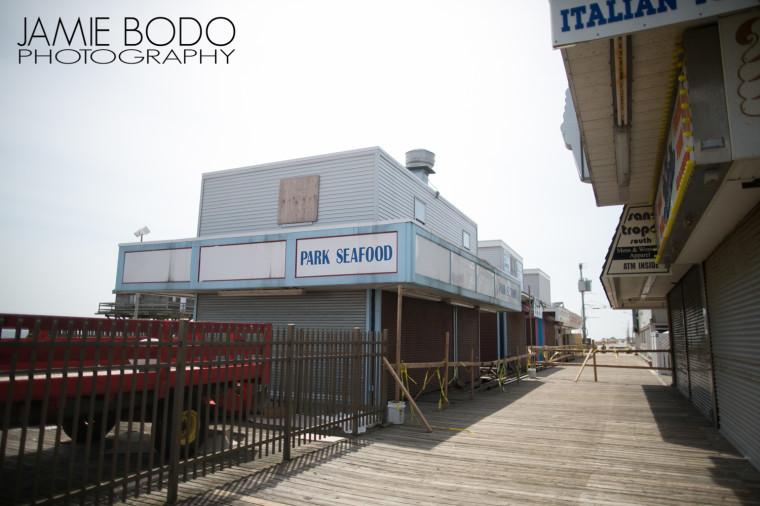 seaside heights boardwalk construction Jamie Bodo Photo