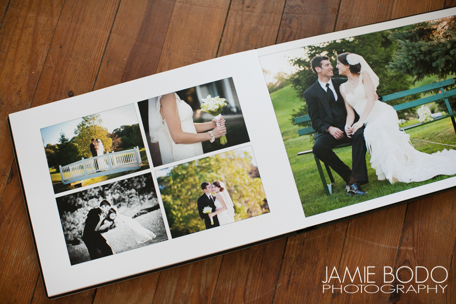 custom wedding albums jamie bodo photography. Black Bedroom Furniture Sets. Home Design Ideas