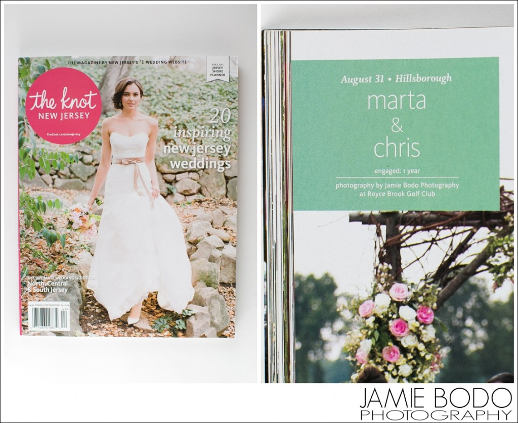 Published in The Knot Fall Winter 2014 Magazine NJ Jamie Bodo Photography_0209