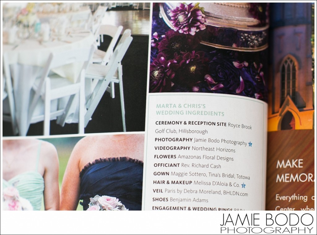 Published NJ Wedding Photographer Jamie Bodo