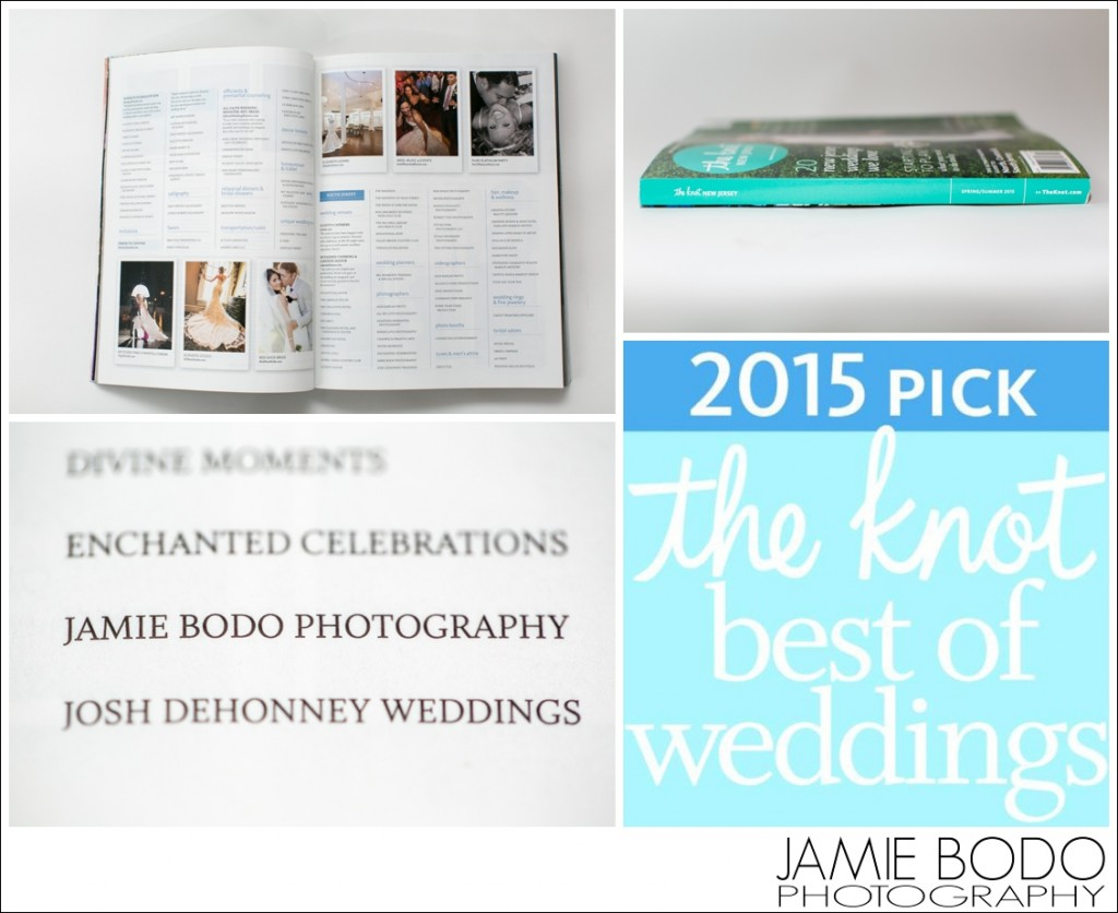 Published Photographer in The Knot Magazine NJ photo