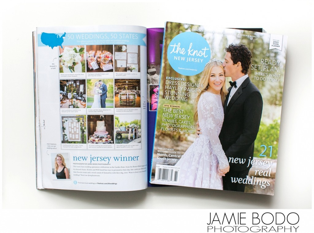 Published in The Knot New Jersey Magazine {Rodes Barn}