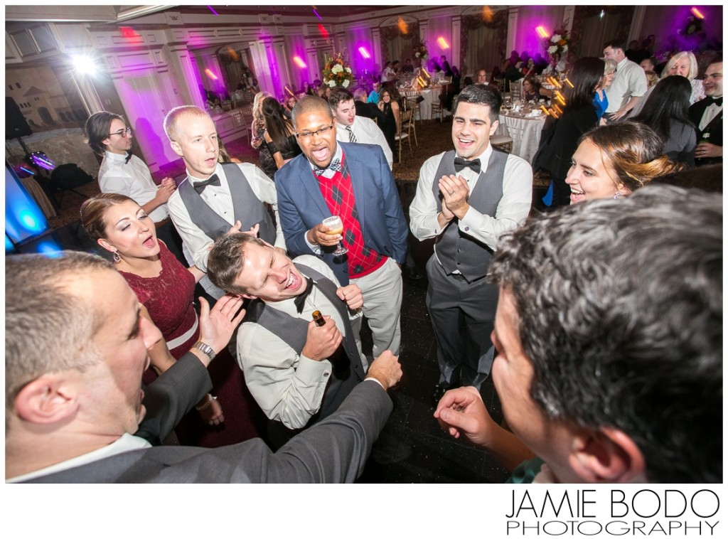 Epic guests on dance floor at il Tulipano NJ Wedding photo