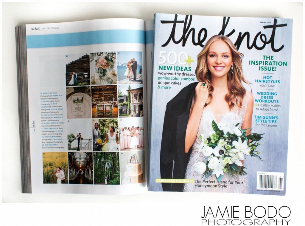 Rodes Barn Published in The Knot National Magazine Spring 2016 {50 States 50 Weddings}
