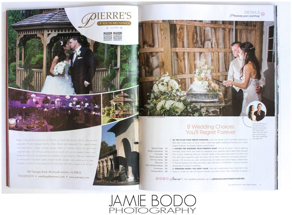 New Jersey Bride Magazine Publishes Stone Rows Farm Wedding