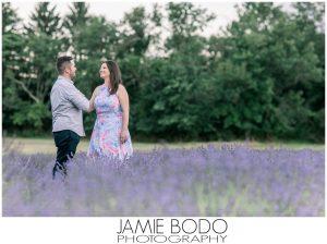 Hidden Spring Lavender Farm Engagement Photos